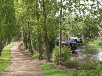 Travel by bicycle, boat or walk through Milton Keynes