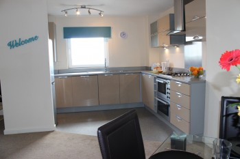 Pinnacle serviced apartment kitchen dining area