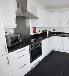Kitchen in serviced apartment