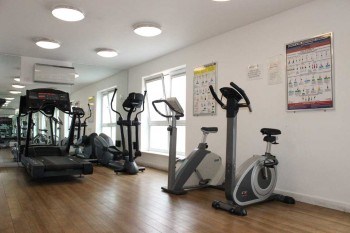 Fitness room for free access by all serviced apartment occupants