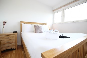 Accommodation Milton Keynes includes separate bedrooms from the main living area