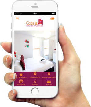 Serviced apartment app for smart phones to make a booking quickly
