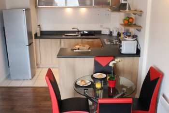 Two bedroom serviced apartment for comfortable temporary accommodation
