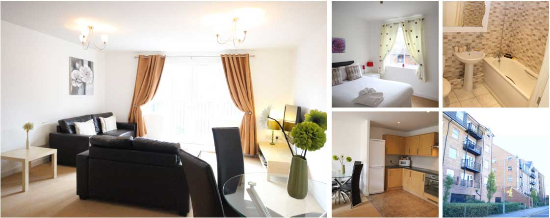 Two bedroom and two bathroom apartments in Luton.