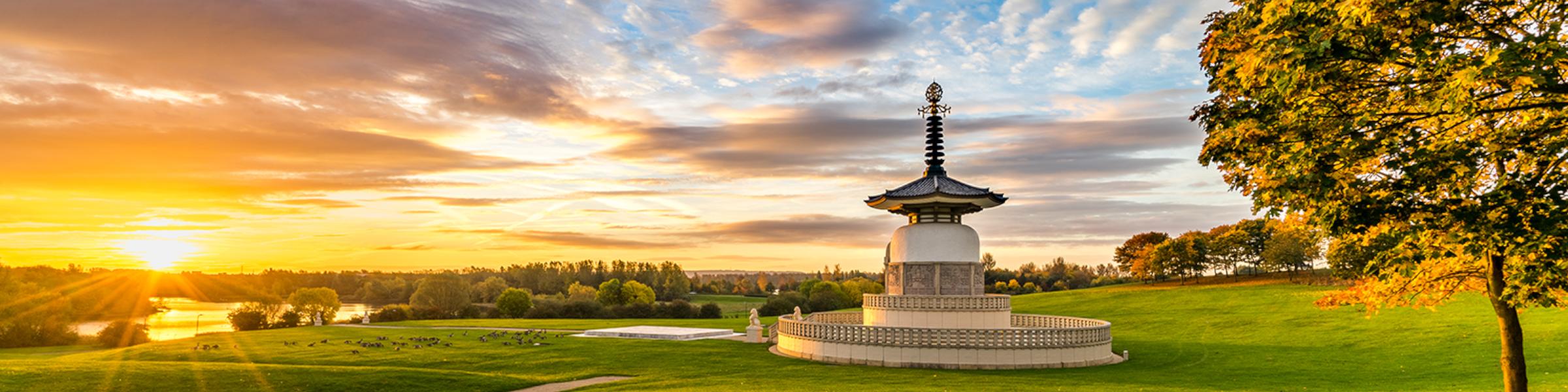 Peace Pagoda in Milton Keynes
